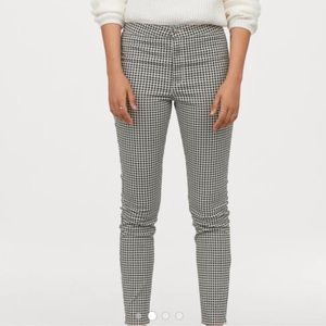 Houndstooth high waist skinny pants NWOT